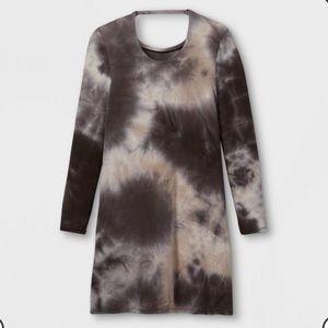 Girls' Tie-Dye Long Sleeve Dress - art cla…